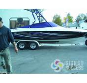 This Customer Wanted Tribal Graphics Boat Wrap Similar To Baja Boats