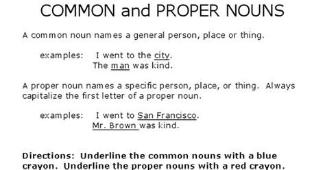 With The Proper common and proper nouns worksheet pdf drive