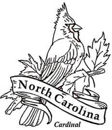 nc map coloring page cardinal bird of north carolina coloring page free