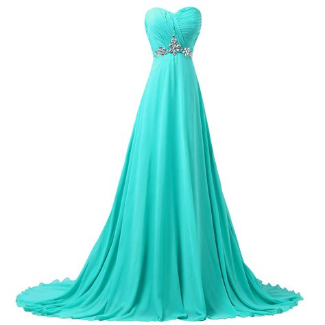 Turquoise Bridesmaid Dress by Grace Karin Fast Shipping Sweetheart Turquoise Chiffon