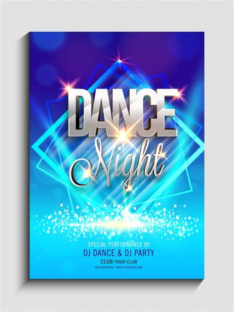 design banner club colorful abstract design decorated night dance party