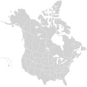 united states and canada on map map of united states and canada with states