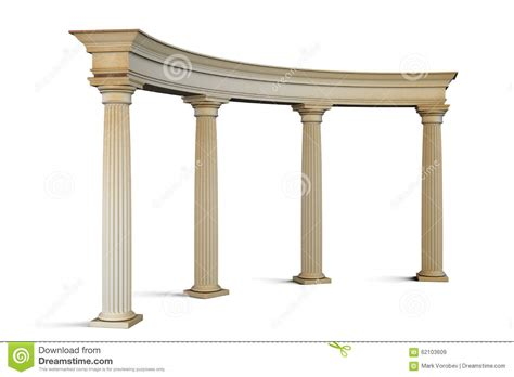 Entrance Columns Entrance With Columns In The Classical Style On A