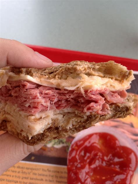 Where Can You Buy Arby S Gift Cards - arby s reuben sandwich review dudefoods com