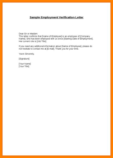 Employment Letter Confirmation Sle 5 Employment Confirmation Letter Template Doc Joblettered