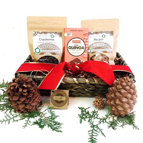 organic raw nuts and superfoods holiday gift basket free