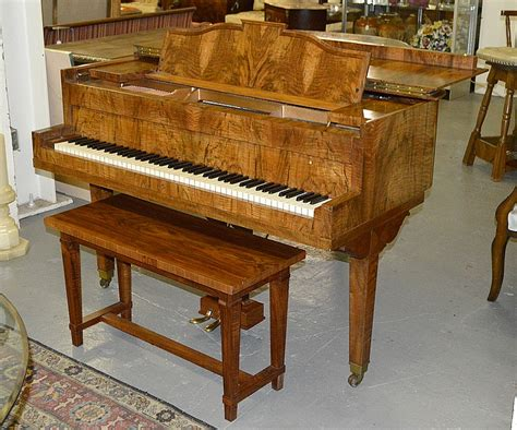 grand piano bench american burl walnut baby grand piano bench