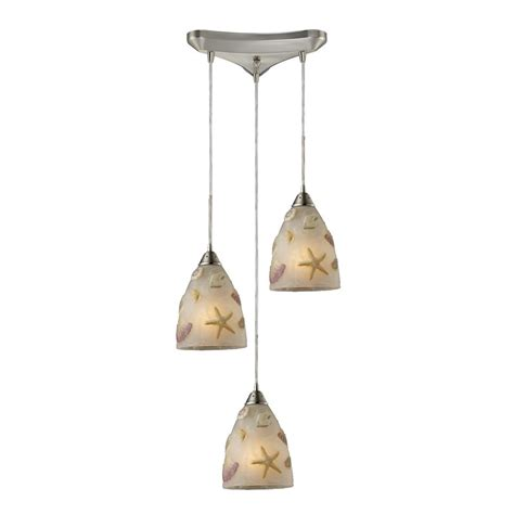 Sea Glass Pendant Lighting Starfish Sea Shells Glass Multi Light Pendant Light 20000 3 Destination Lighting