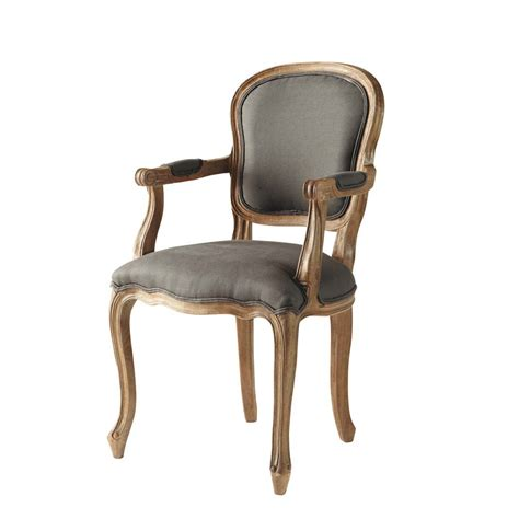 Linen Armchair by Linen Cabriolet Armchair In Taupe Versailles Maisons Du