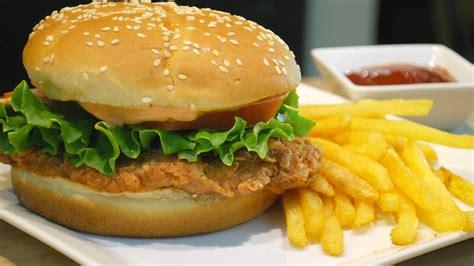 Crispy Burger Ch Chicken Burger Kfc Www Pixshark Images Galleries
