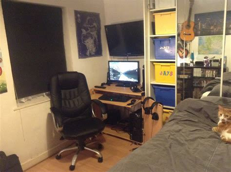 Really Cool Bedroom Ideas my gaming bedroom setup share yours too