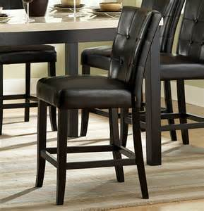 homelegance archstone 7 piece counter height dining room set w black chairs beyond stores