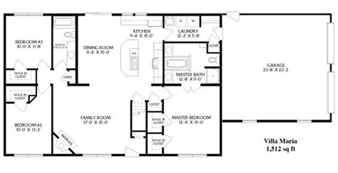 simple open ranch floor plans style villa maria house   ranch house plans house
