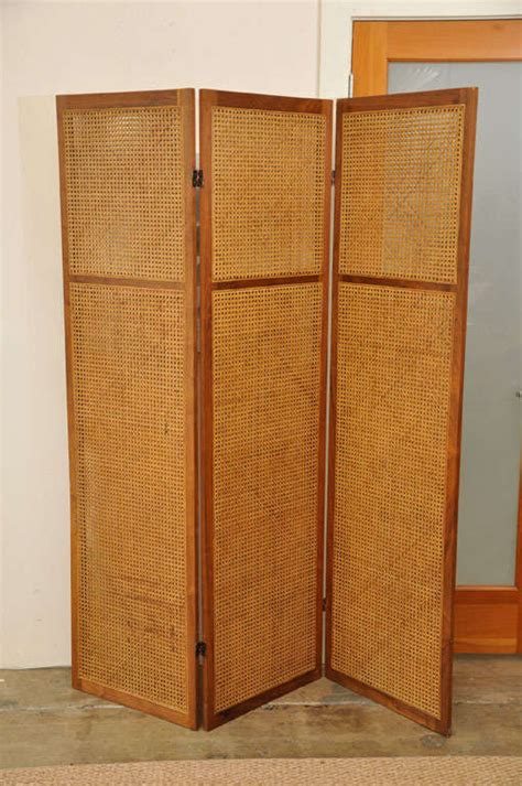 wicker room divider vintage caned rattan room divider screen image 2