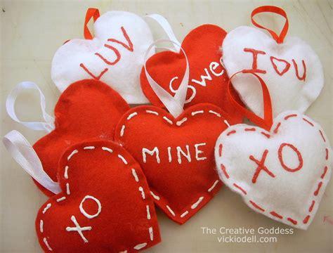 no sew felt valentine s day ornaments