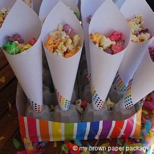 How To Make Paper Cones For Food - best 25 popcorn cones ideas on table