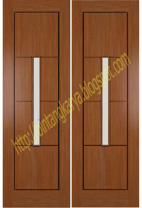 Pintu Utama Panel Solid Kayu Ker Samarinda Oven 80x210 Pu7 pd bintang karya harga pintu utama