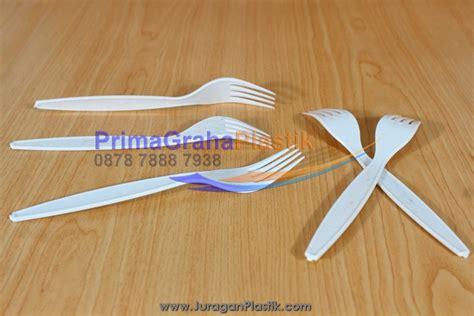 Sendok Plastik 100 Pcs Sendok Resto Take Away Box garpu plastik plastik putih supra home
