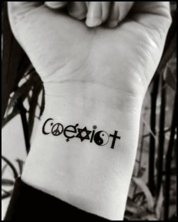 coexist tattoo coexist search great