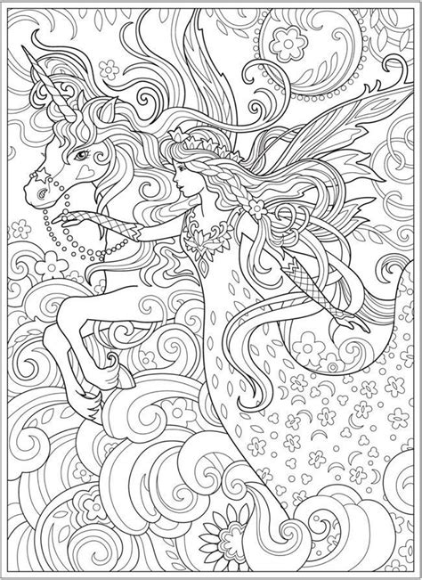 coloring page - fairy princess and unicorn #coloring #