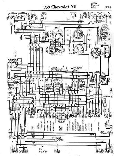 Wiring Diagrams Of 1958 Chevrolet V8 | All about Wiring