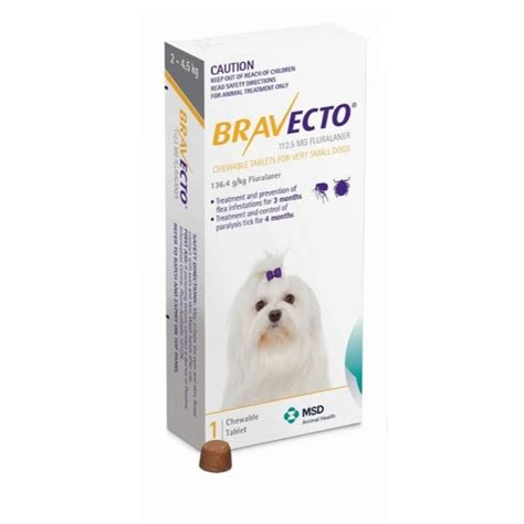 Bravecto Flea Pill For Cats - bravecto xs 2 4 5kg flea and tick pill tataluga