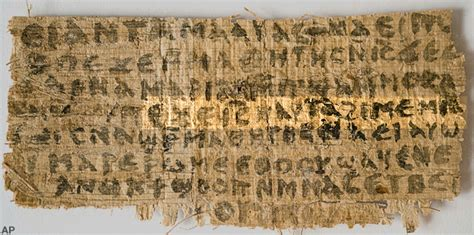 proof jesus was married found on ancient papyrus that the immoral minority baptist professor challenges