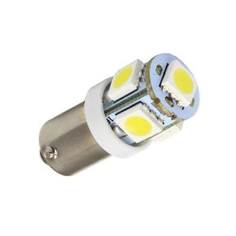 Smd Simple Stylish 50 x t11 ba9s white 5 led 5050 smd car wedge side light