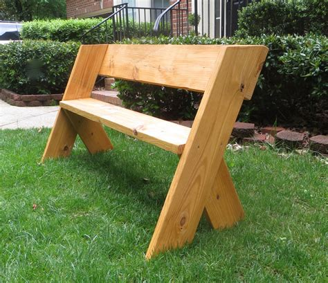 diy wood benches diy tutorial 16 simple outdoor wood bench the project