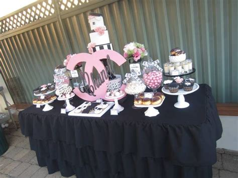 pictures of ideas chanel sweet sixteen dessert table chanel ideas