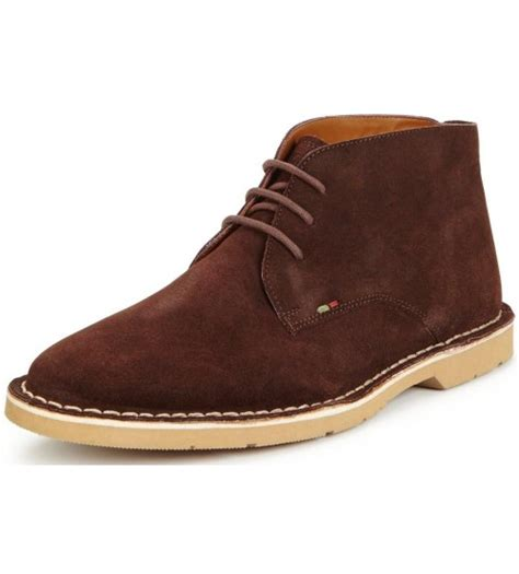 Kickers Black Suede kickers kanning brown mens suede chukka boots