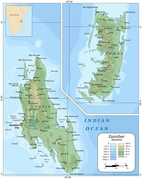 printable map of zanzibar large zanzibar island maps for free download and print