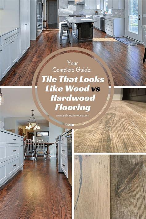 tile that looks like wood vs hardwood flooring home