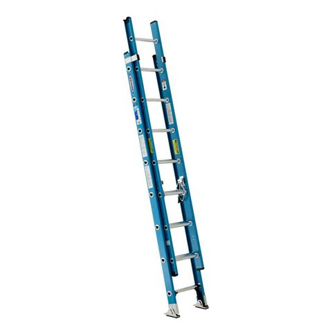 werner 16 ft fiberglass extension ladder with 250 lb home