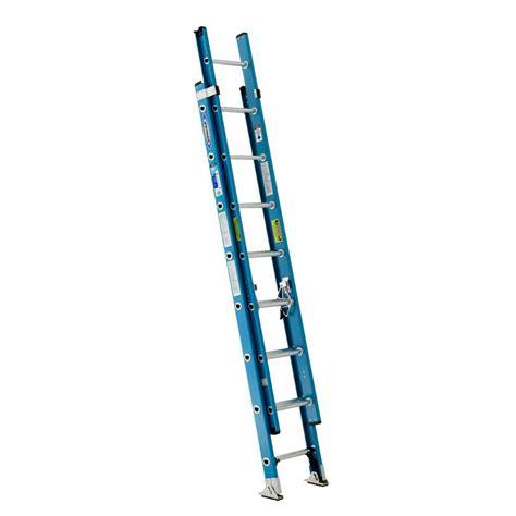 werner 16 ft fiberglass extension ladder with 250 lb