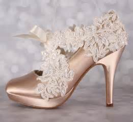 chagne color wedding shoes chagne wedding shoes closed toe bridal heels with an