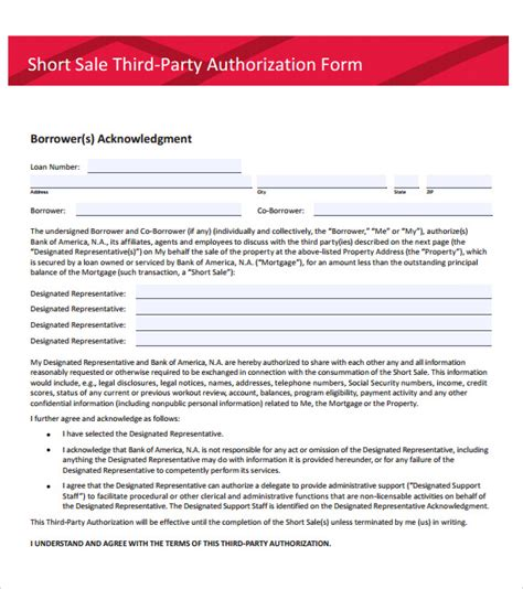 authorization letter bank of america sle third authorization letter 11 free