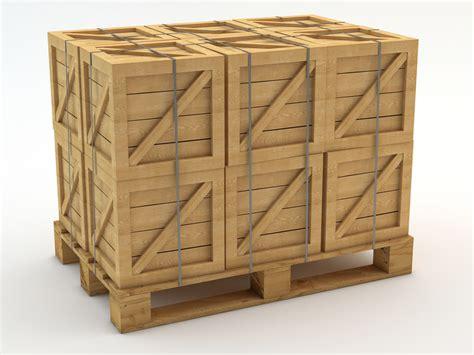 crate a 3d pallet crates