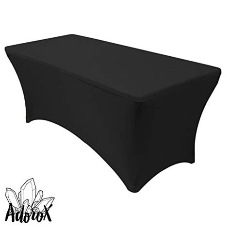 Marcelino Black Ft Katun Strecth Black adorox 4 ft black stretch fabric spandex tight fit table cloth cover for holidays 4 ft black