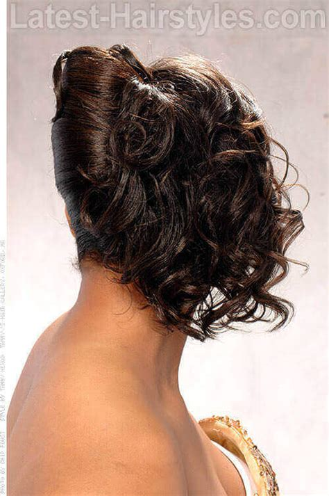 african american french roll hair show off your beautiful curls with these curly hair updos