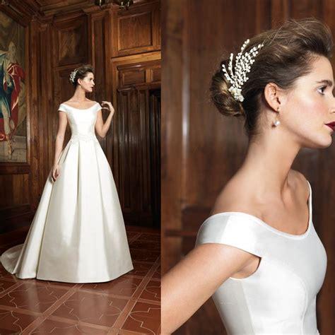 boat neck dress for wedding the 25 best boat neck wedding dress ideas on pinterest