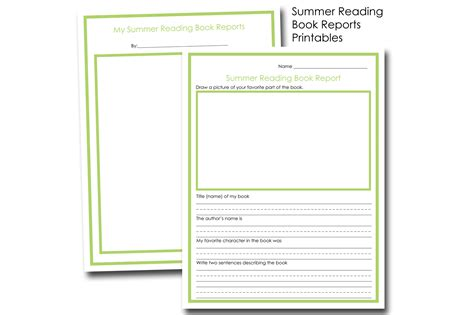 reading book report summer reading book report free printables fancy shanty 174
