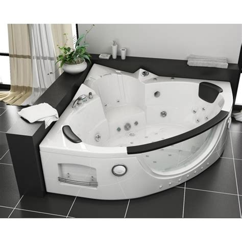 vasca da bagno 2 posti vasca idromassaggio da bagno 152x152x62 nera con