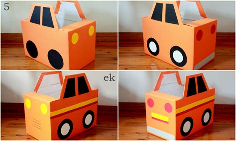 Mainan Cut Car box car tutorial part 1 simple car emilia keriene