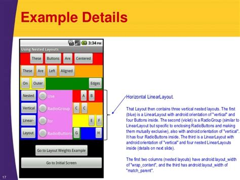android linearlayout video android tutorial layouts organizing the screen