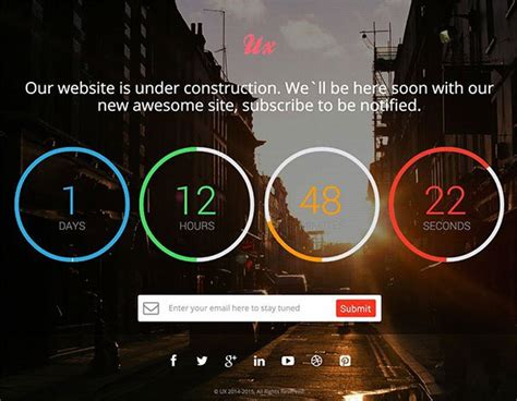 templates bootstrap countdown top 15 free website under construction coming soon templates