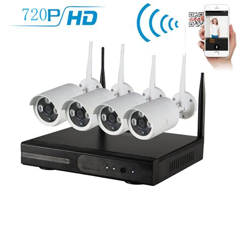 wireless 4ch 720p nvr dvr home cctv security system indoor