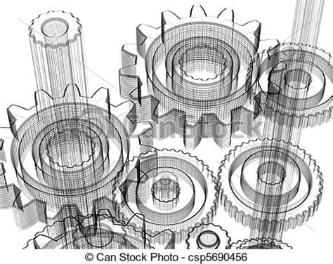 industrial layout en francais stock illustration of gears industrial design concept