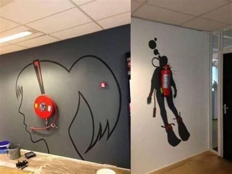 creative wall decorations best 25 creative wall painting ideas on