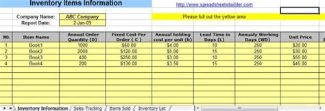Sales And Inventory Management Spreadsheet Download And